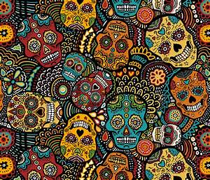 Mexican Sugar Skulls (small) wallpaper - lusykoror