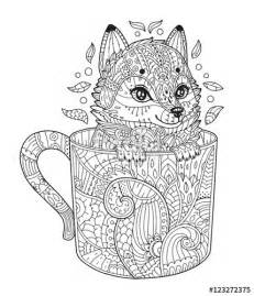 Fox Zentangle Coloring Pages Adult