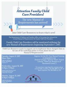 New Requirements  U2013 Child Care Resources