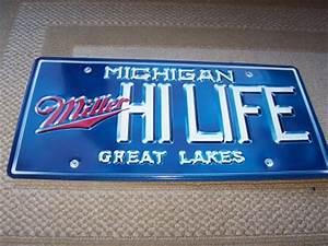 Miller Hi Life Michigan Great Lakes License Plate