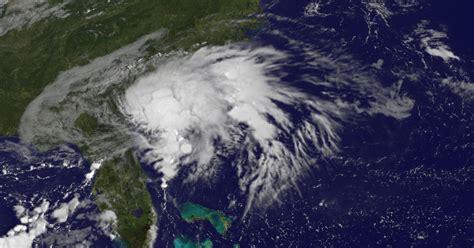 tropical storm julia rain ga georgia brunswick dumps noaa cbs satellite