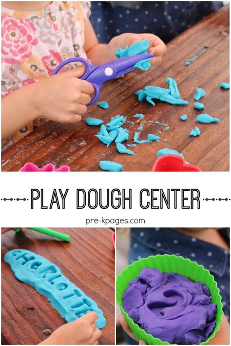 playdough center in preschool pre k and kindergarten 554 | preschool play dough center