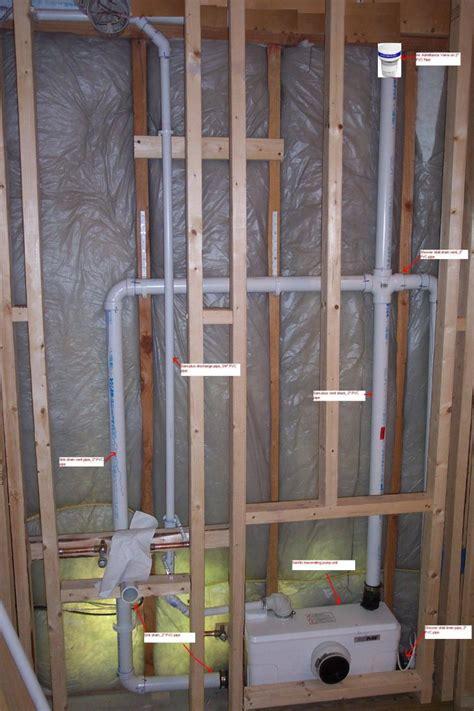 bathroom plumbing installing drain  vent
