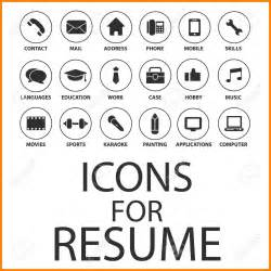 10 creative resume icons resume pictures