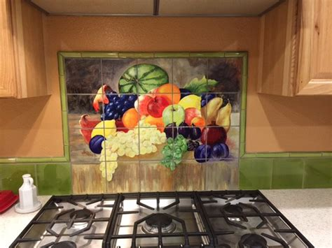 mural tiles for kitchen decor custom tile murals tile by design 7052