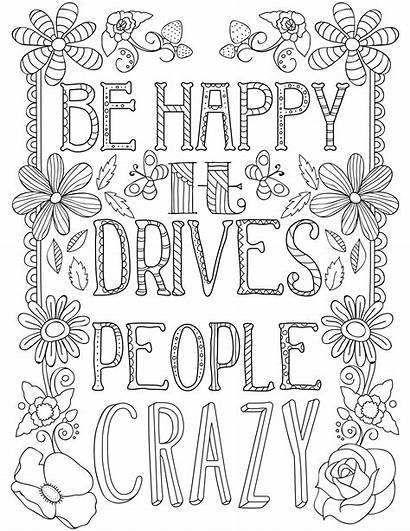 Coloring Quotes Adult Printable Adults Quote Inspirational