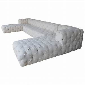 Large tufted sofa for sale at 1stdibs for Large tufted sectional sofa