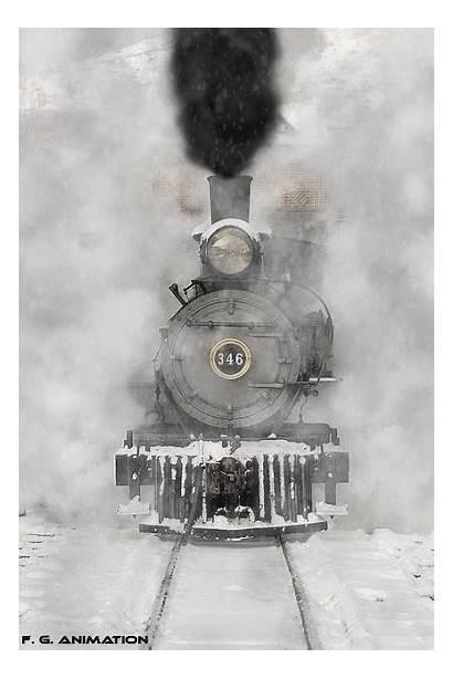 Train Trains Steam Winter Tracks Engine Locomotive