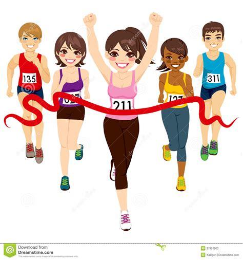 Female Marathon Winner Stock Photos - Image: 37897903