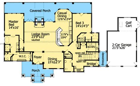dual master bedroom floor plans cozy cottage with dual master suite 15792ge 1st floor 18661