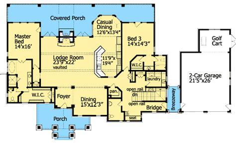 cozy cottage dual master suite ge architectural designs house plans
