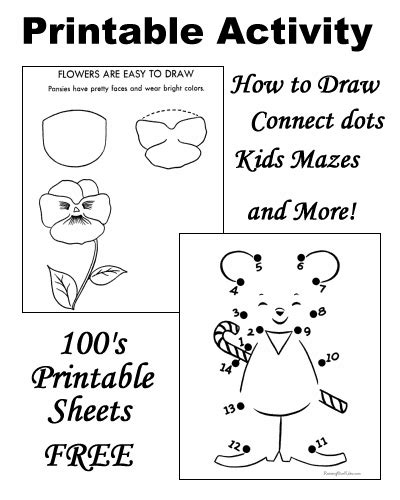 easy colouring book  beginners  printable