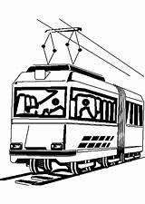 Transportation Transport Tramway Coloring Printable Transporte Dessin sketch template