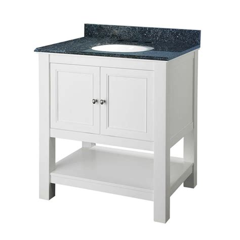foremost gazette 30 in vanity in white with granite