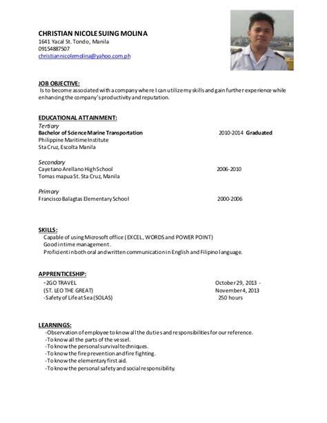 christian service resume