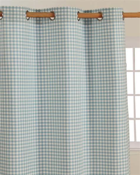 blue gingham curtains cotton gingham check blue ready made eyelet curtains