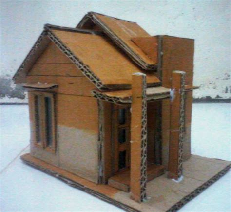 Gambar Rumah Sakit Dari Kardus Membuat Miniatur Rumah Dari Kardus