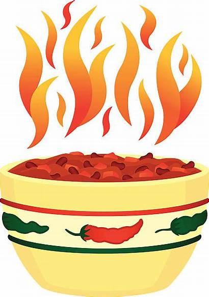 Chili Bowl Vector Flames Clip Soup Bean