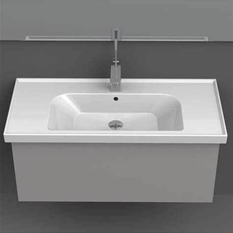 Rectangle Sinks Bathrooms by Frame Rectangle Ceramic 32 Quot Sink Zuri Furniture