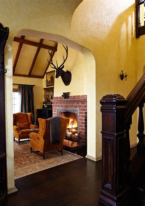 Revival Interiors by World Style For A Tudor Revival House Traditional Home