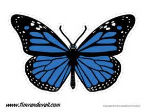 Blue Monarch Butterfly Template Printable