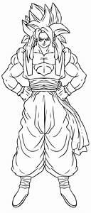 Dragon Ball Z Goku Super Saiyan 2 Coloring Pages