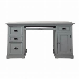Wooden desk in grey W 150cm Newport Maisons du Monde