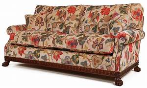 Dartington sofa in a floral print velvet fabric sofas in for Floral sofa bed