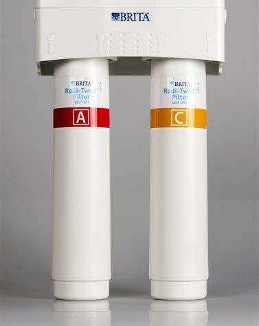 brita under sink water filter brita redi twist tm 2 stage water filtration system model