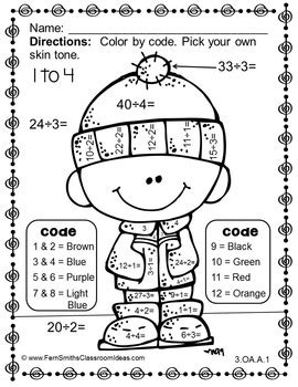 22 fun to do division color by number printables