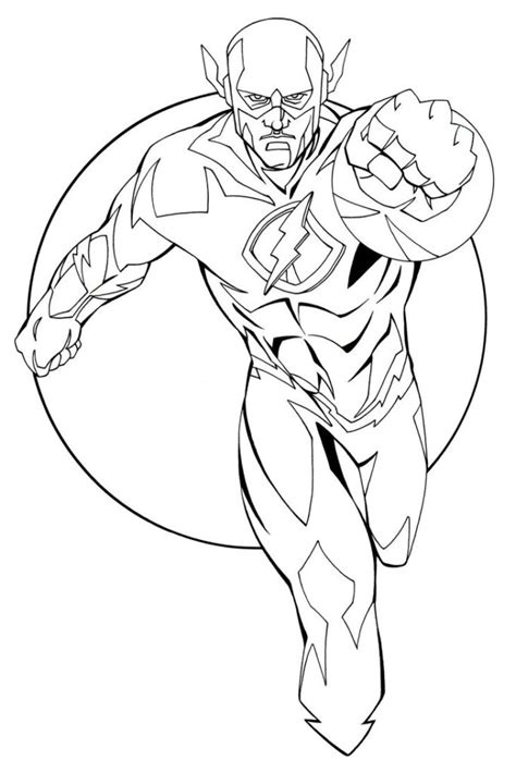 The Flash Coloring Pages Free Printable Coloringstar