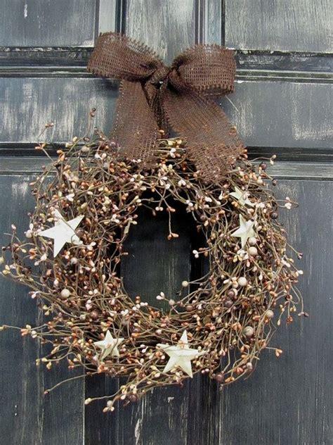 ideas  primitive wreath  pinterest fall