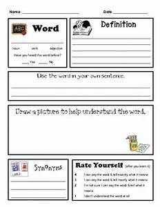 worksheet vocabulary worksheet template hunterhq free With marzano vocabulary template