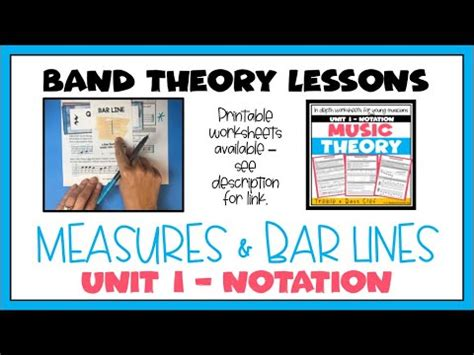Bar lines are vertical lines in our music that have specific in the ultimate music theory workbooks, we have chosen to refer to the line (or lines) that separate music into equal. Beginning Band Music Theory - Measures & Bar Lines (THIRD ...