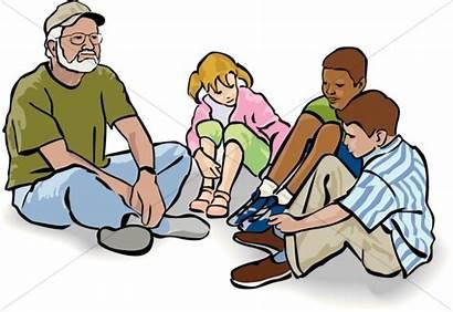 Sunday Teacher Clipart Clip Sitting Cliparts Sharefaith