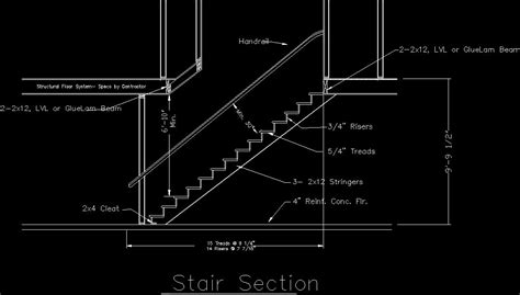 stair detail dwg section for autocad designs cad west lake house in 2019 stair detail