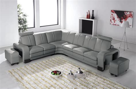 canape angle relax cuir deco in 7 canape d angle en cuir gris avec appuie