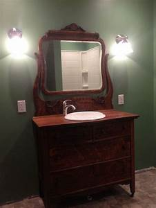 antique dresser made into bathroom vanity antique With old dresser made into bathroom vanity