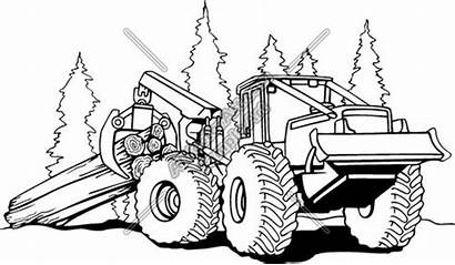 Clipart Clip Bulldozer Skidder Construction Tractor Logs