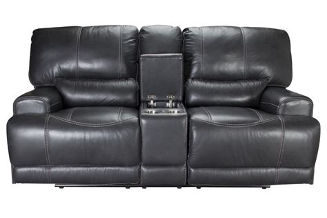Power Reclining Leather Loveseat by Cannon Leather Power Reclining Loveseat