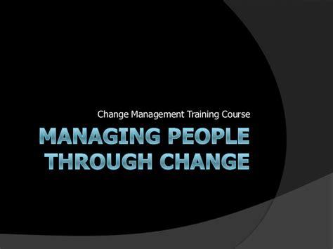 change management training  managing people