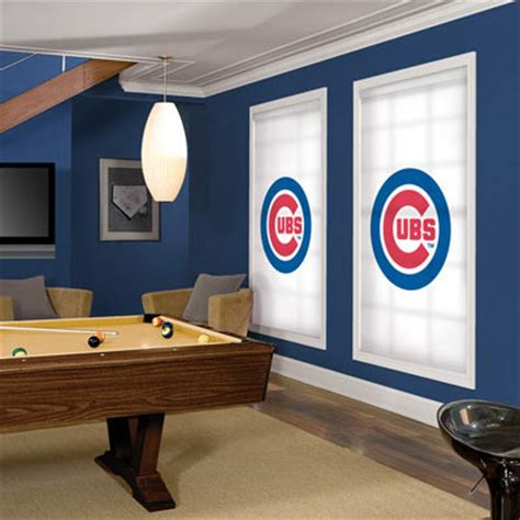 mlb roller shades chicago cubs