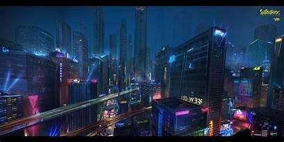 Artstation Cyberpunk Concept Artwork