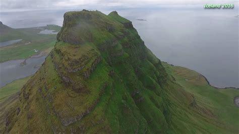 Iceland Grundarfjordur Kirkjufell Mountain Drone
