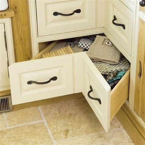 kitchen corner cabinet drawers space saving kitchen corner drawers a set of v shaped 6598