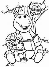 Coloring Barney Friends Pages Popular sketch template