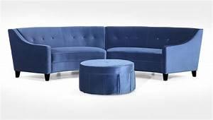 Circular sofa sectional circle black bonded leather for Sectional sofas circle furniture