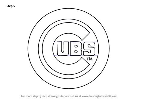 learn   draw chicago cubs logo mlb step  step