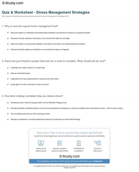 worksheet stress management worksheets hunterhq free