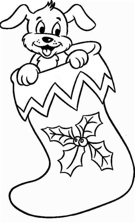 Christmas Puppies Coloring Pages for Kids >> Disney